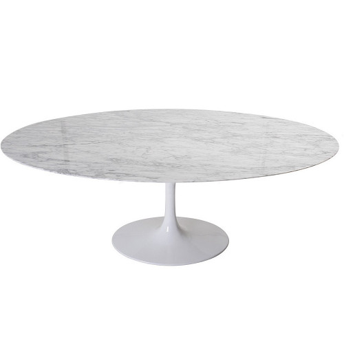 Mesa Saarinen Oval Carrara